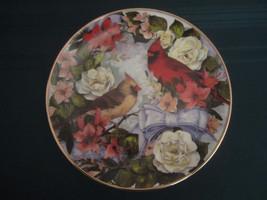 CARDINALS IN SUMMER SPLENDOR collector plate Theresa Politowicz SONGBIRD - $29.95