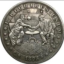 Rare New Hobo Nickel Coin 1895 Morgan Dollar Donald Trump Korea Summit K... - $11.99