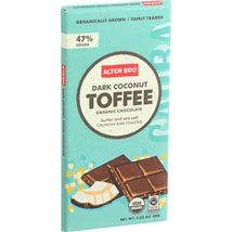 Alter Eco Americas Organic Chocolate Bar - Dark Coconut Toffee - 2.82 oz Bars -  - $51.99+