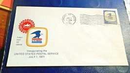 Nassau NY, 1st Day Inaugerating USPS Envelope,Jul 1 1971, 8 cent stamp - $3.95