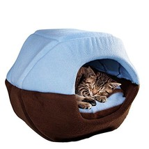 Cat Dog Cave Bed Washable Pet Bed Soft Pet House Tent and Cushion Mat (M... - $35.99
