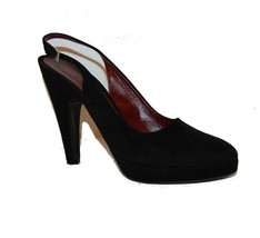Prada Women's Authantic Black Suede Heel Shoes Italy Size US 9-9.5 EU 40... - $158.39
