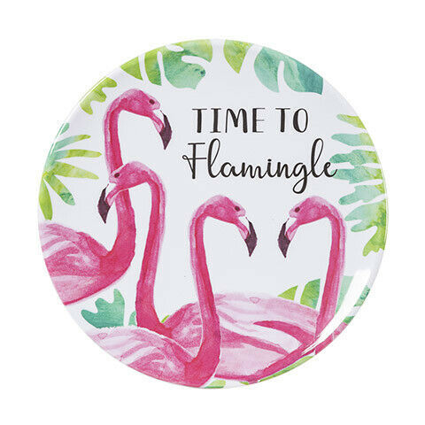 Primary image for Darice Time to Flamingle Flamingo Plate: 7.25 inches w