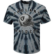 OAKLAND RAIDERS TEAM APPAREL TIE DYE T SHIRT GRAY BLACK MEN'S M L XL 2XL - $18.99