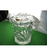 "Block Nassau Clear 8"" Biscuit Barrel Jar 24% Lead Crystal Made in Czech ... - $54.99"