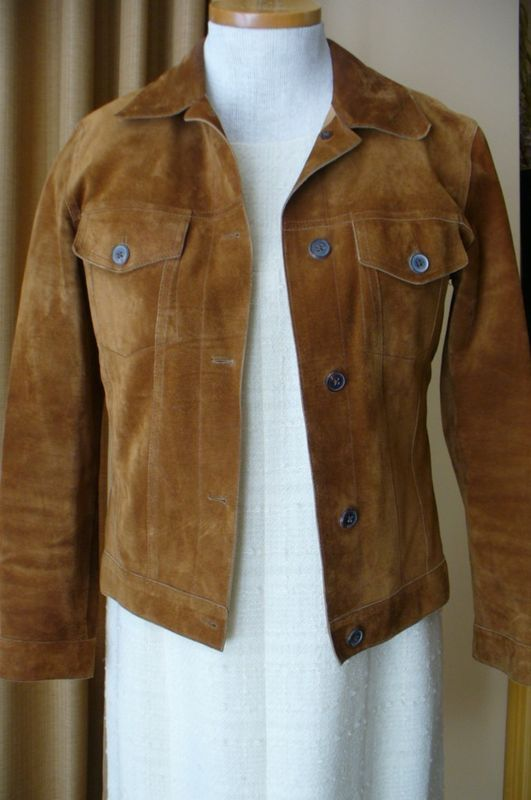 JIL SANDER Jacket Brown Suede Jean Jacket Style 38