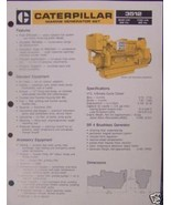 1983 Caterpillar 3512 Diesel Marine Generator Set Brochure - $6.00