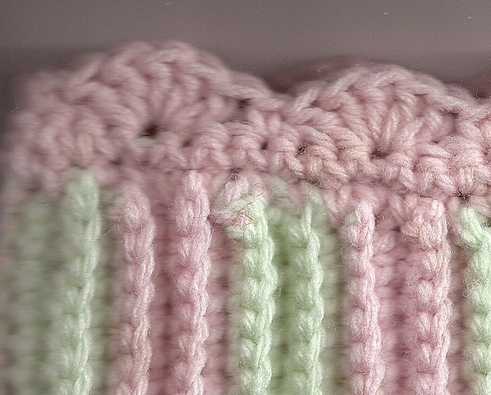 Toddler Girl Leg Warmers Hand Crocheted in Pink and Light Aqua  Toasty Warm