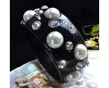 Bangle black pearl rhinestones  4  thumb155 crop
