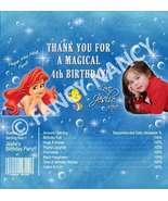 Ariel Little Mermaid Candy Bar Wrapper Birthday Party Favor - $19.99