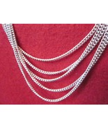 Multiple Strand Silvertone Necklace Neck Chains 18 inches NWOT - $14.99