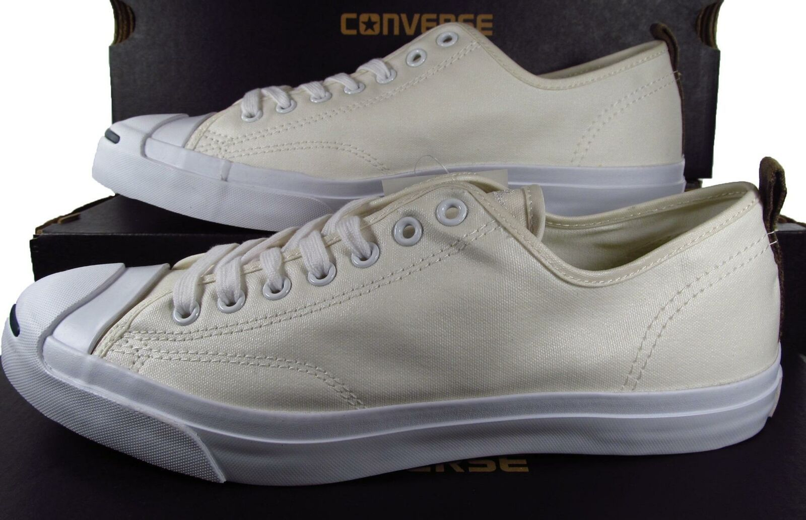 Converse Jack Purcell JP JACK OX Nylon WHITE Lunarlon Sole 151481C (10.5 MEN'S)