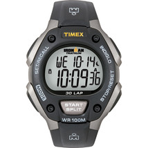 TIMEX IRONMAN TRIATHLON 30 LAP - BLACK/SILVER - $49.00