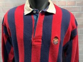Chaparreras Ralph Lauren Escudo Rayas Rojo Azul Polo Hombre Camisa Talla XL - $20.63