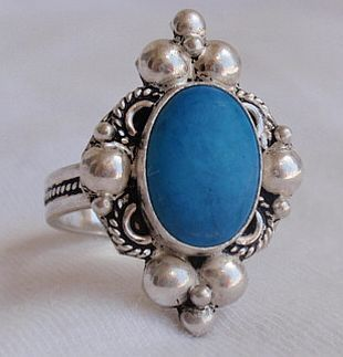 Blue turqouise ring a