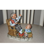 Vintage Lefton Grandpa Sitting In Chair Reading Book To Child Porcelain ... - $44.99