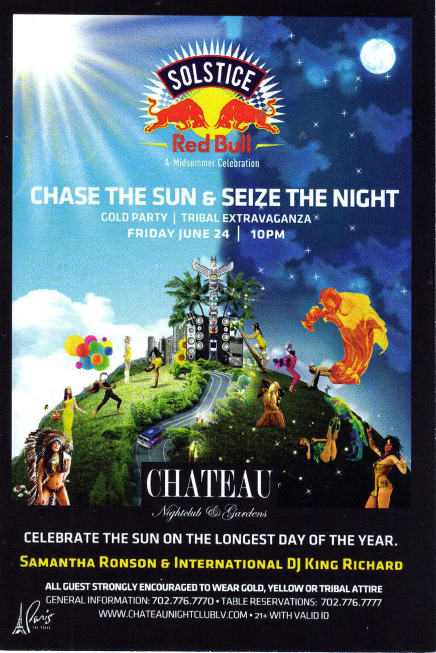SOLSTICE  Midsummer Celebration @ CHATEAU Nightclub Vegas Pr