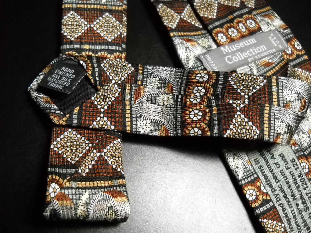 Museum Collection by Schreter Neck Tie Ancient Roman Mosaic Pavements Baltimore