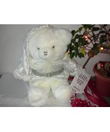 Bright White Large Christmas Teddy Bear LIMITED EDITION 2002 Keepsake Memories w - $40.00