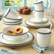 16 Piece Porcelain Dinnerware Set Service 4 Round Dinner Plates Bowls Mu... - $57.41