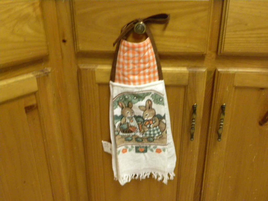 Kitchen hand towel hanger