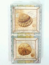 Treasures From The Sea 4 Absorbent Stone Coasters - $15.88