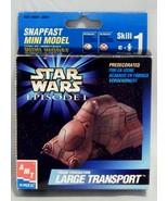 Star Wars Episode 1 Snapfast Mini Model by AMT ERTL Large Transport  - $8.42