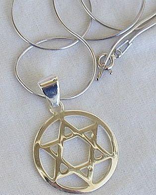 Round David-Star pendant