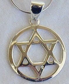 Round david star pendant