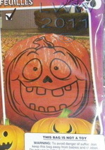 Goofy-faced Scary Pumpkin Jack-o-lantern Halloween Lawn Leaf Bag  - $3.99