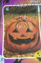 "Traditional Pumpkin Jack-o-lantern Halloween Lawn Leaf Bag 36"" x 60"" - $3.99"