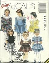McCall's Sewing Pattern 3836 Girls Dress Size 4... - $12.98
