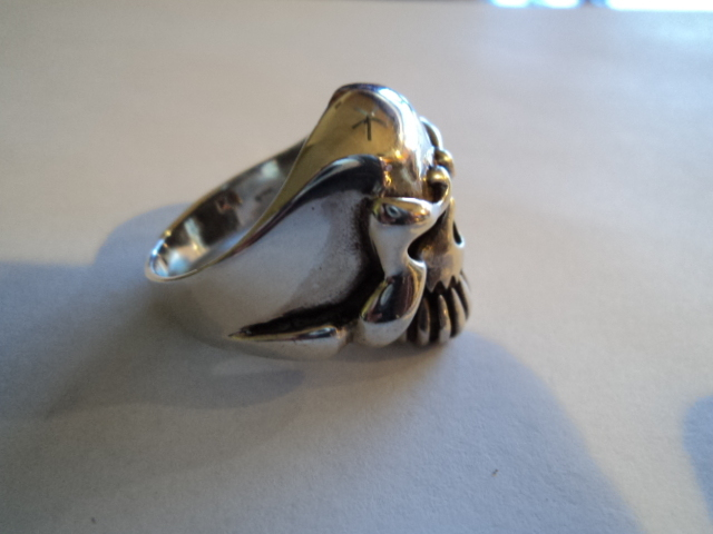 Sterling Silver Skull Ring Size 12 925