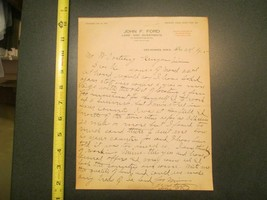 Des Moines Iowa John F Ford Land and Investments IA 1915 Letterhead 859 - $10.99