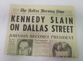 RARE John F. Kennedy Daily Morning News November 23, 1963!! Very Good! - $247.49