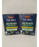 2 Celestial SeasoningsTea Well Organic Matcha Green Tea Daily Wellness 1... - $16.82
