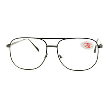 Clear Lens Glasses With Bifocal Reading Lens Vintage Square Spring Hinge - $9.95