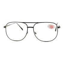 Clear Lens Glasses With Bifocal Reading Lens Vintage Square Spring Hinge - $9.95