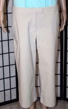 NEW YORK & CO Women's Size 8 Beige Stretch Crop/Capri Cuffed Pants 4 Poc... - $14.50