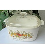 Corning Ware 3 Quart Covered Casserole A 3 B Spice of Life Pattern - $19.80