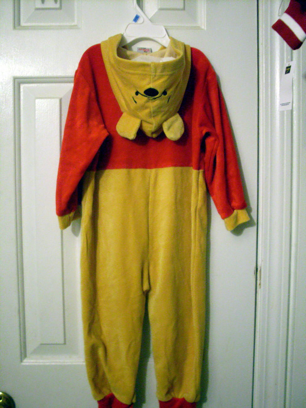 Disney Pooh Hooded coverall Pajama Costume  6 - 12 months Bonanza