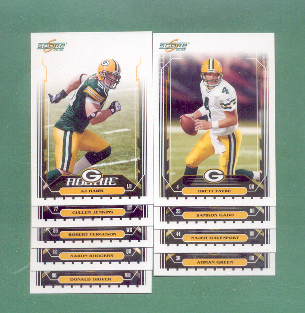 2006 Score Green Bay Packers Football Set