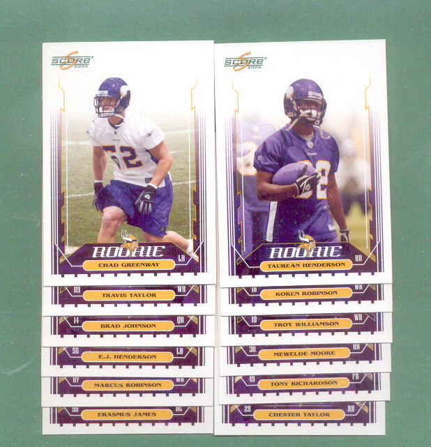 2006 Score Minnesota Vikings Football Set