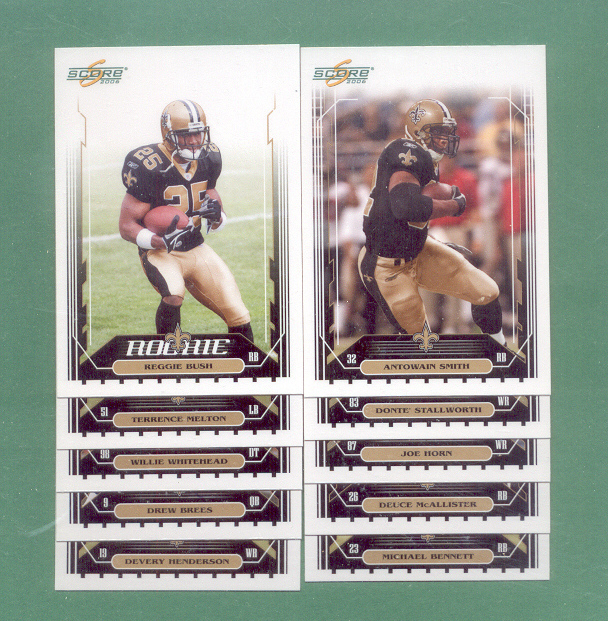 2006 Score New Orleans Saints Football Team Set