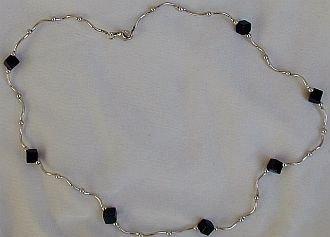 Black cubes necklace