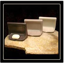 Porcelain Soap Dish - Parchment Glossy image 2