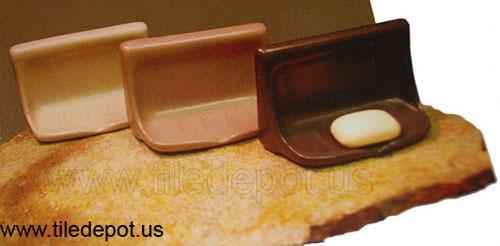 Porcelain Soap Dish - Parchment Glossy image 3