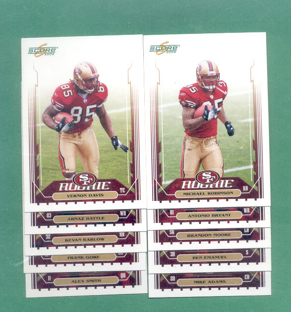 2006 Score San Francisco 49ers Football Team Set