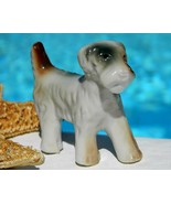 Vintage Wire Haired Fox Terrier Dog Porcelain Figurine Puppy - $9.95