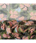 """Silk Fabric with Hand Sewn Sequins 3 1/2 Yards X 48"""" Wide Semi Sheer Flo... - $49.99"""